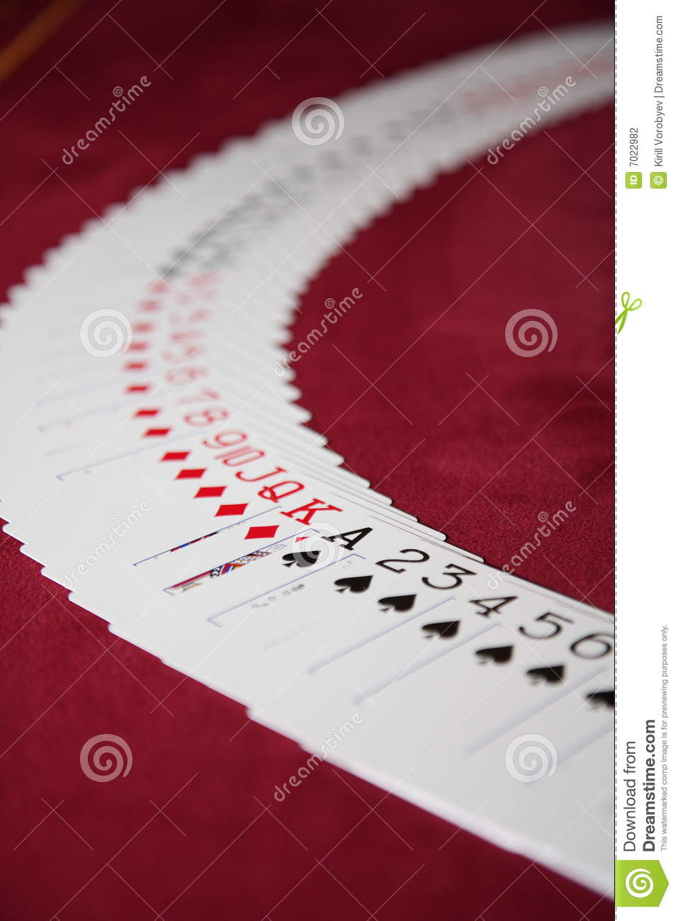 Spread Out Deck Of Cards Stock Photo Image Of Concept 7022982