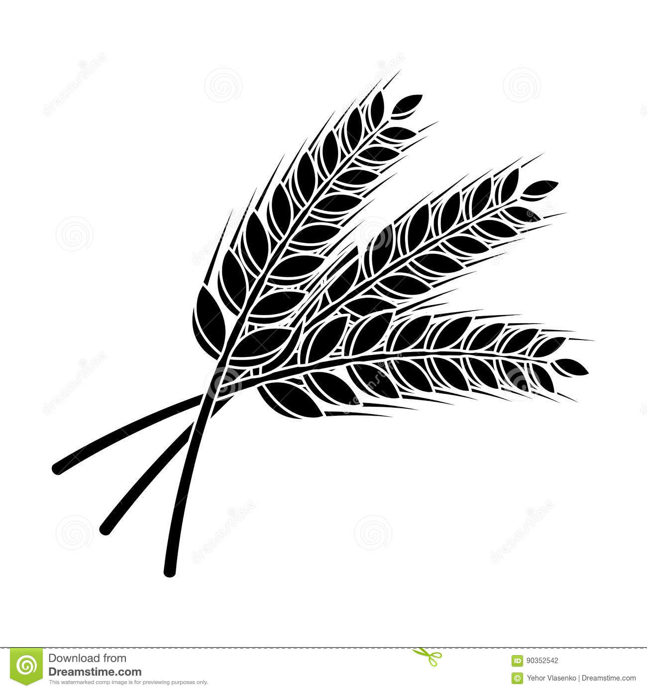 Sprigs Of Wheat Plant For Brewing Beer Pub Single Icon