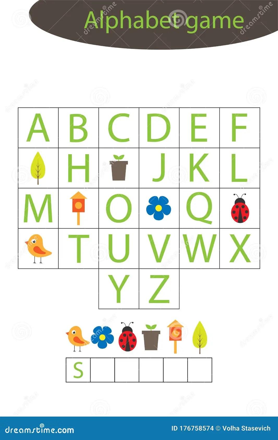Spring Alphabet Game For Children Make A Word Preschool