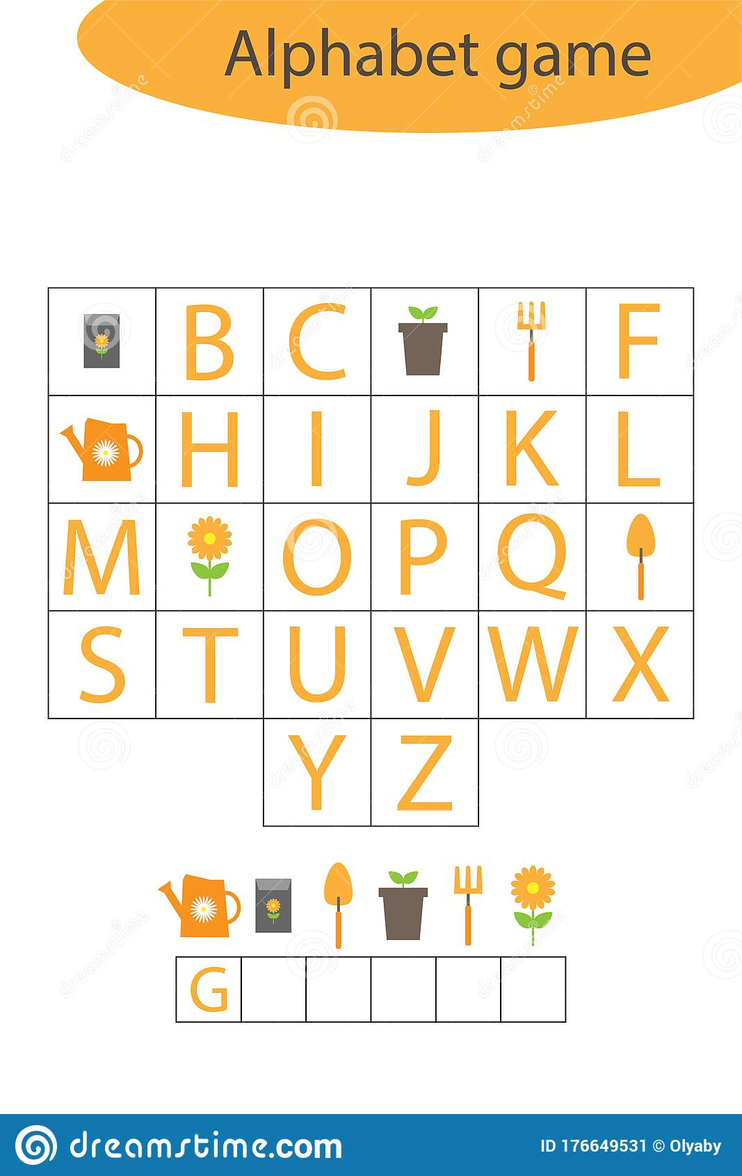 Spring Garden Alphabet Game For Children Make A Word