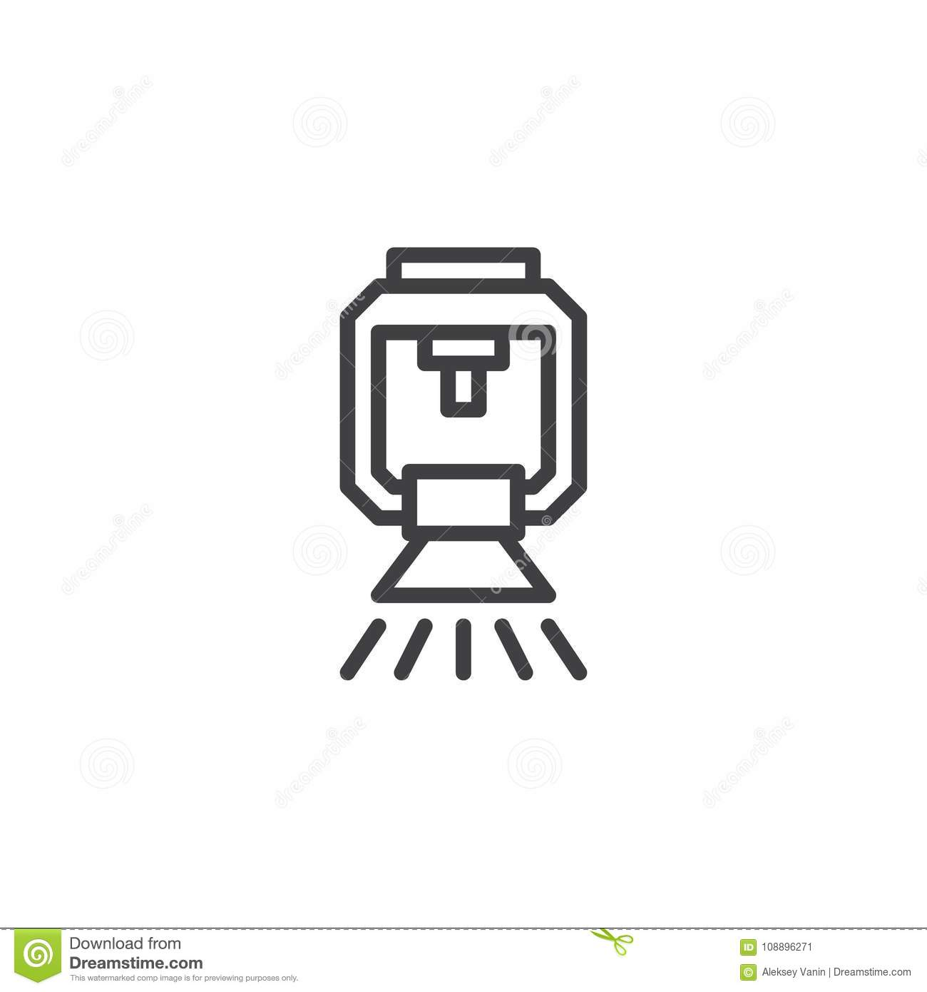 Sprinkler Line Icon Stock Vector Illustration Of Graphics