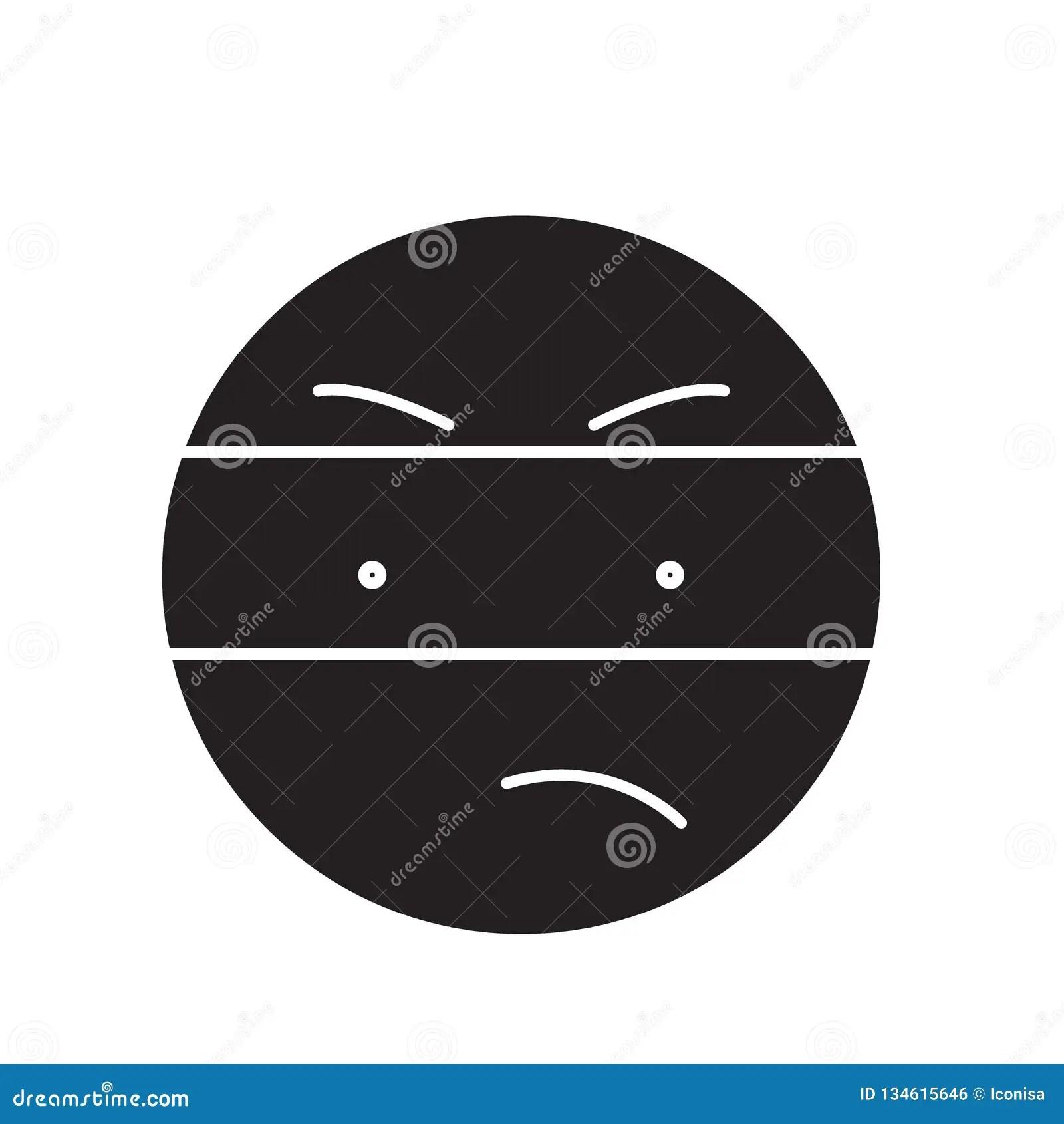 Spy Emoji Black Vector Concept Icon Spy Emoji Flat