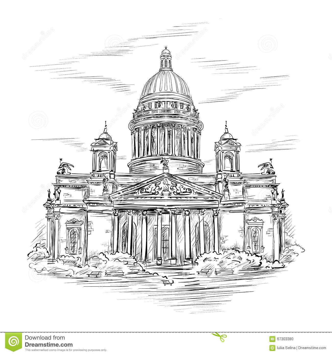 St Isaac S Cathedral Stock Illustration Illustration Of