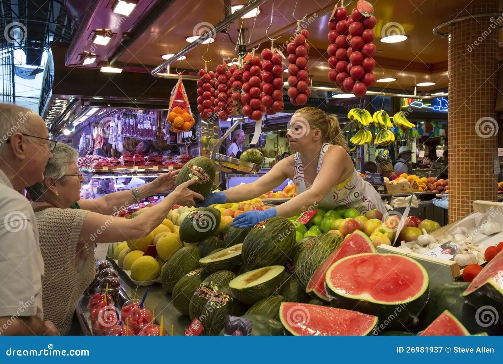 St Joseph Food Market Barcelona Spain Editorial