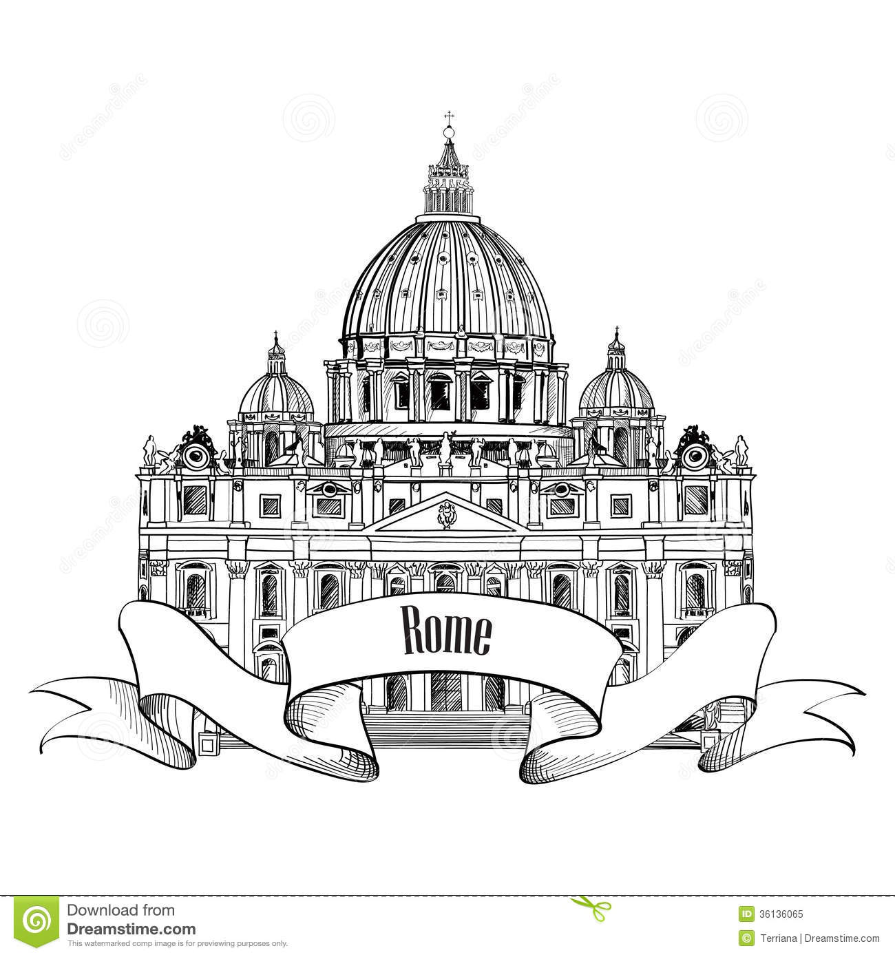 St Peter S Cathedral Rome Italy Famous Landmark