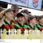 Staff Of Burger King Restaurant Editorial Stock Photo Image Of Event Russia 105158183
