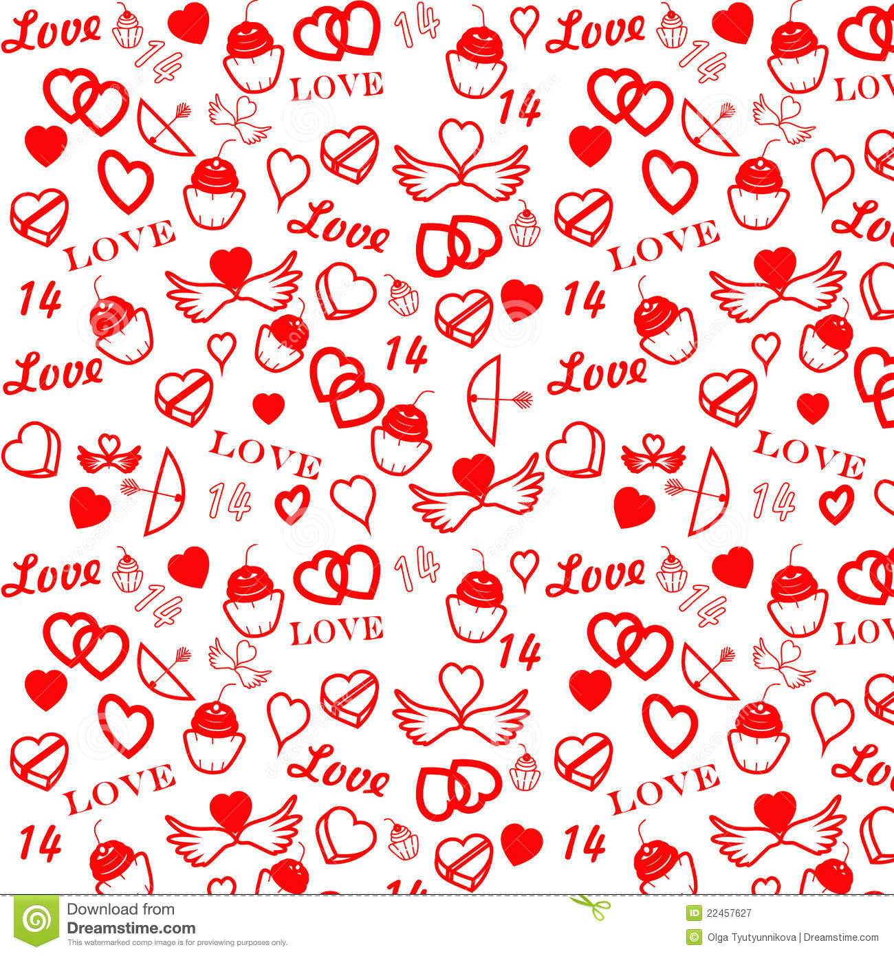 St Valentine S Day Seamless Pattern Stock Vector