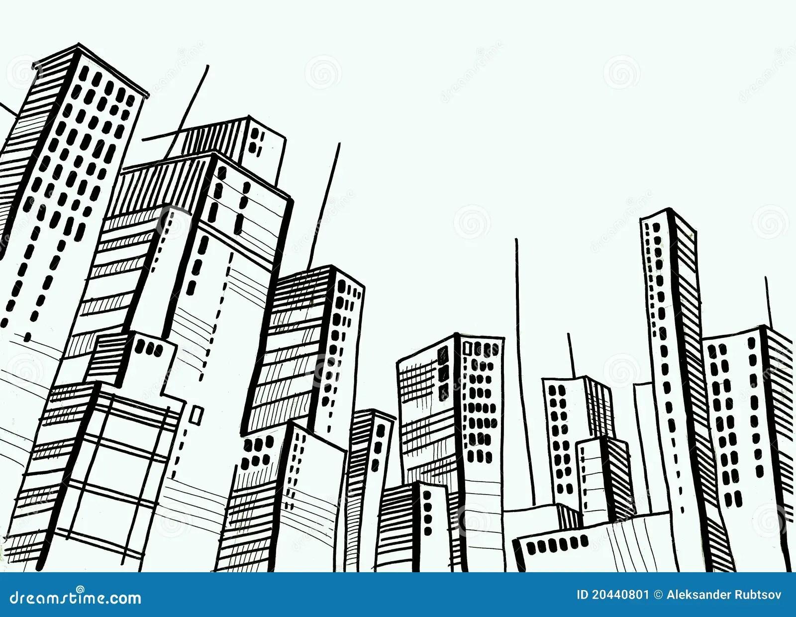 Stadt Und Haube Und Zeichnung Und Architektur Stock