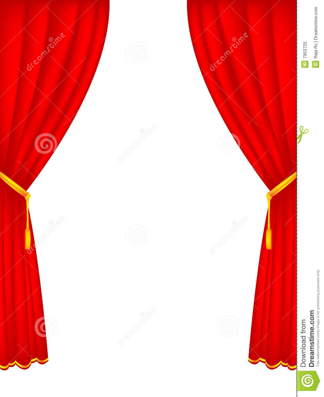 Stage Curtains Stock Vector Image Of Illustration Audience 7953725