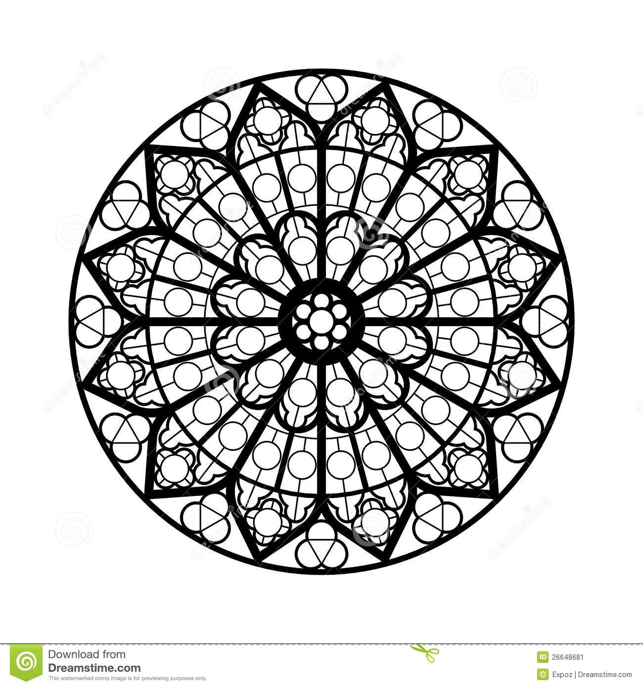 Stained Glass Window Shape Stock Illustration Image Of