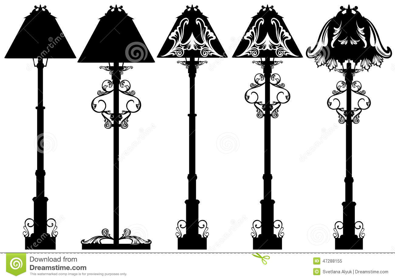 Stand Lamp Set Stock Vector Illustration Of Beautiful