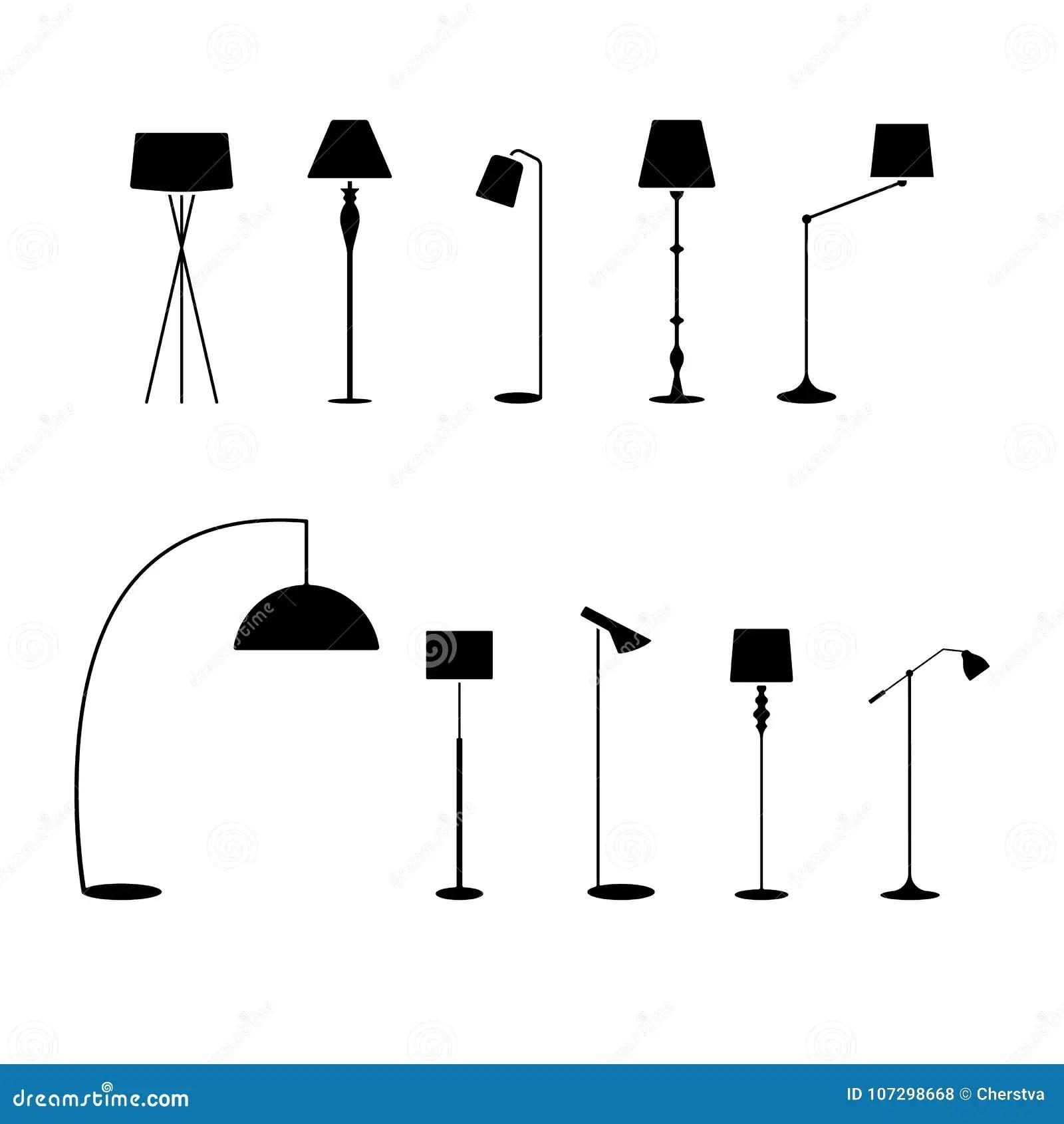 Lamp Icon Set Vector Illustration