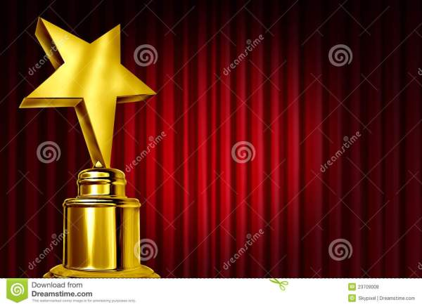 Star Award On Red Curtains Royalty Free Stock Photos ...