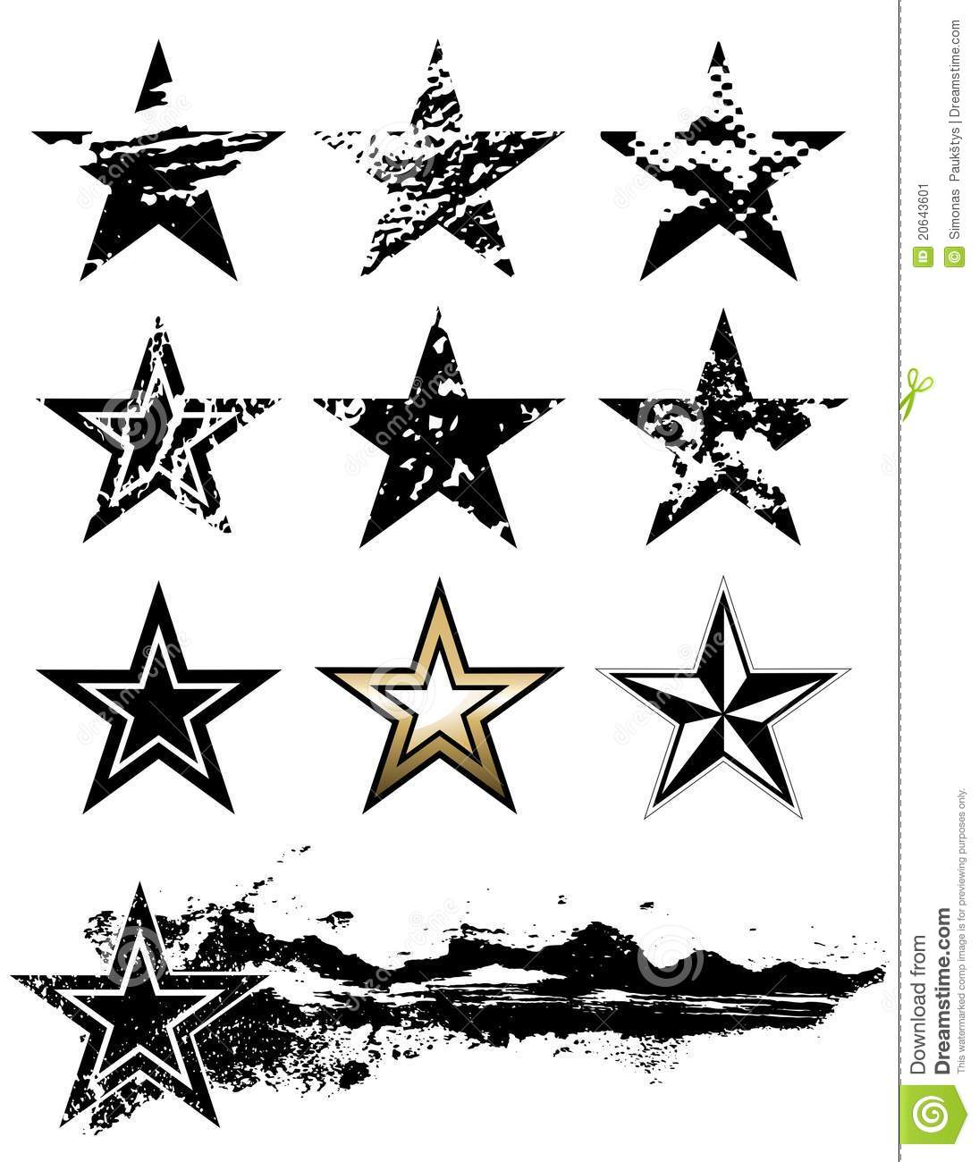 Stars Stock Vector Illustration Of Texture Scratch