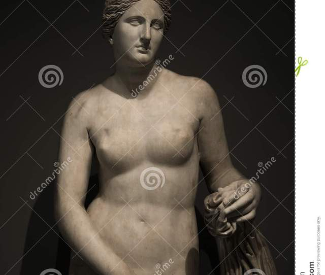 Statue Of Nacked Venus At Black Background Rome Italy