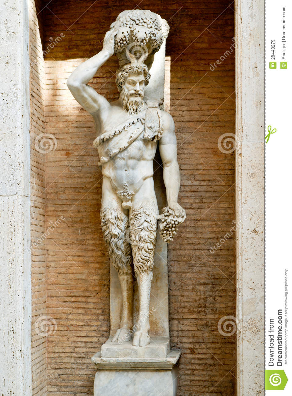 Statue Of The Roman God Of The Faun In Rome Royalty Free
