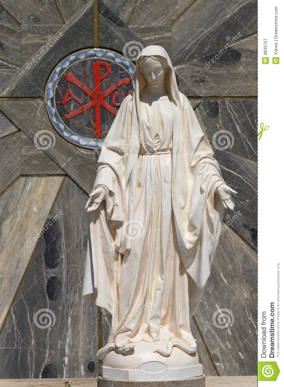 Statue Of Virgin Mary Stock Image Image Of Israel