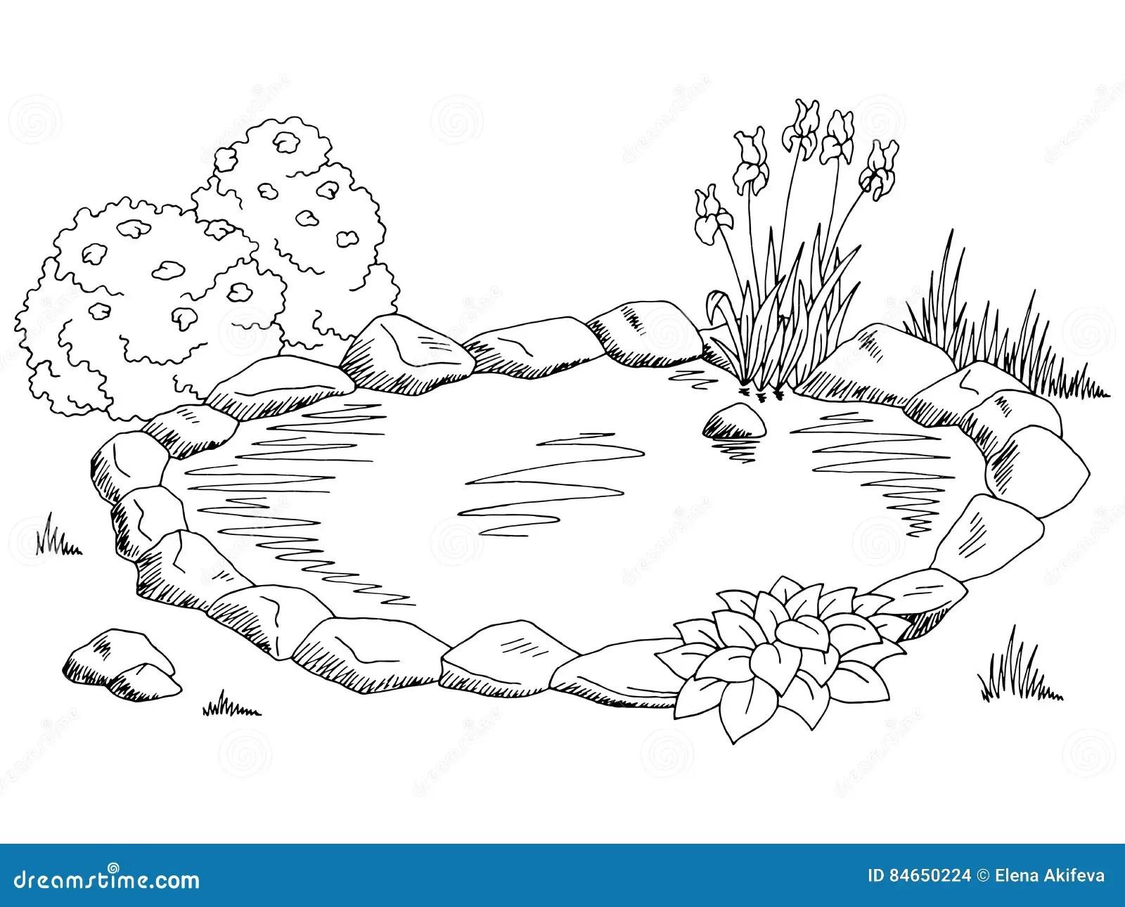 Stawowa Graficzna Czarna Bielu Krajobrazu Nakre Lenia
