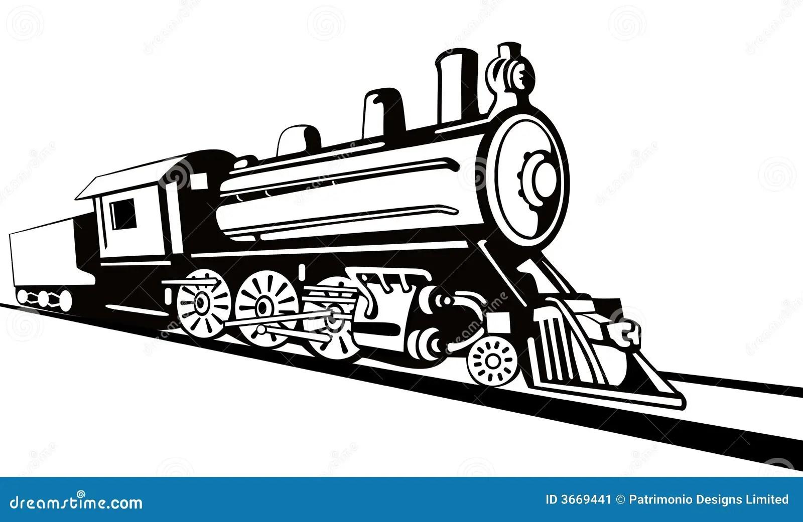 Steam Locomotive Stencil Style Stock Image