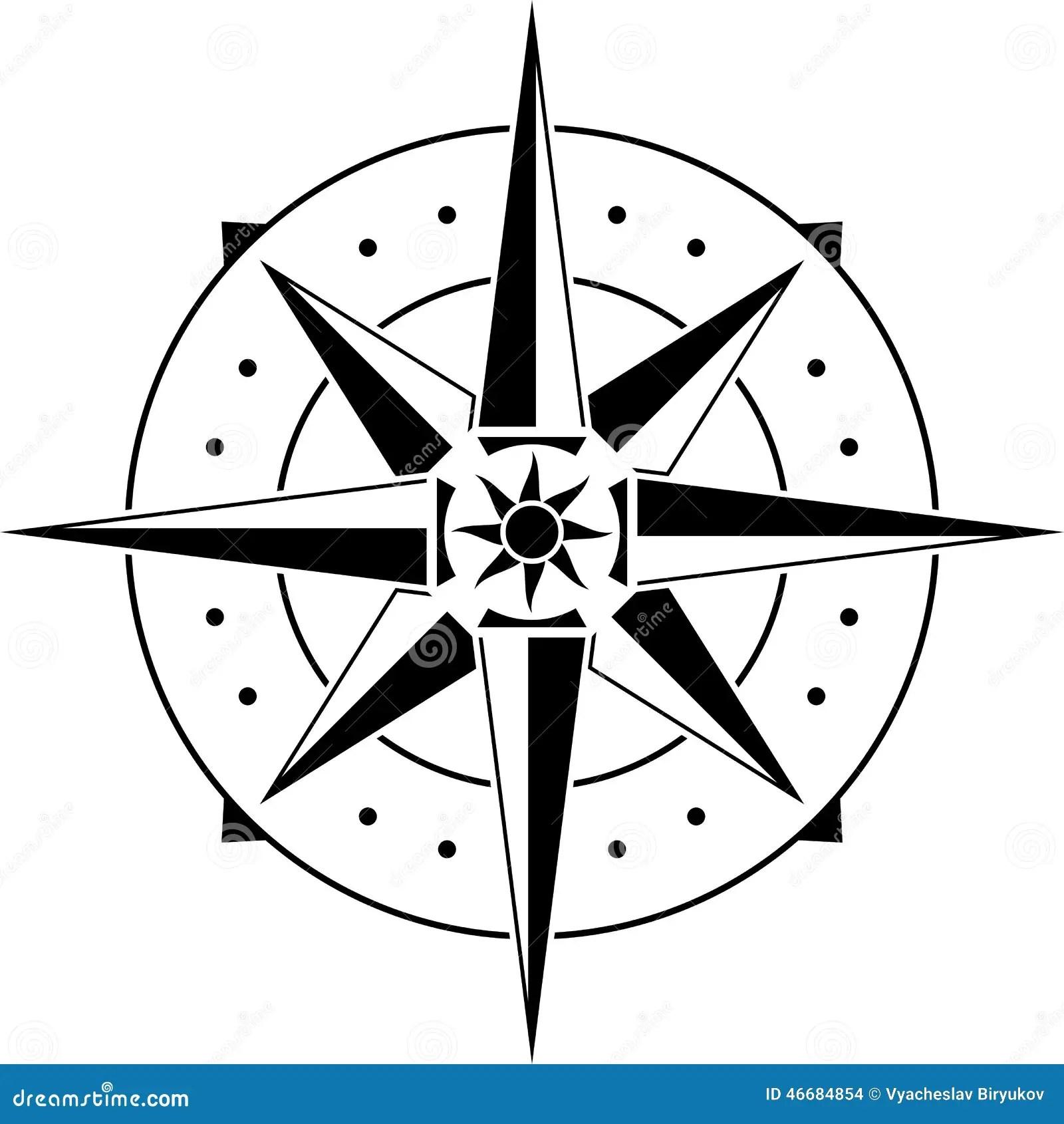 Stencil Of Compass Stock Vector Illustration Of Symbol