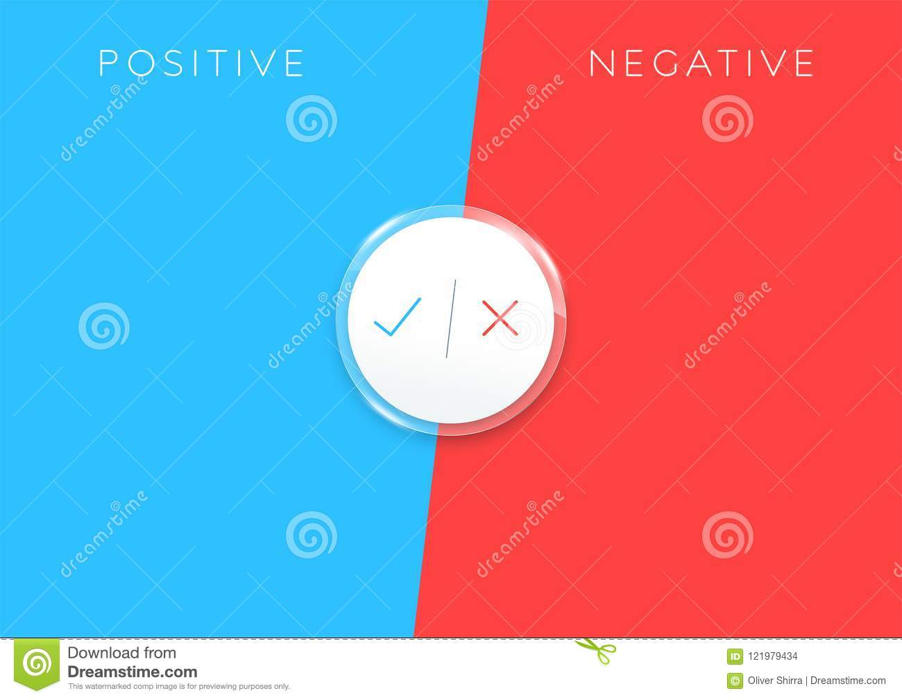 2 Step Positive Negative List Infographic Colorful Stock