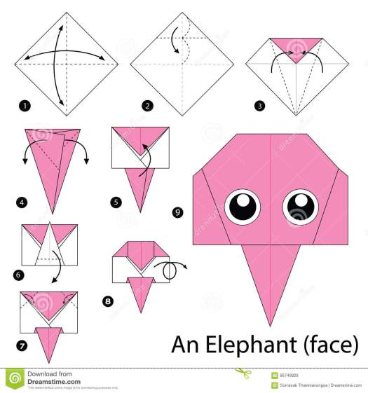 Origami Animals Elephant Origami Tutorial Lets Make It