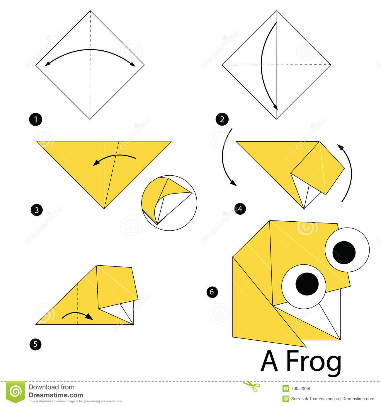 Step By Step Origami Frog Instructions Jadwal Bus