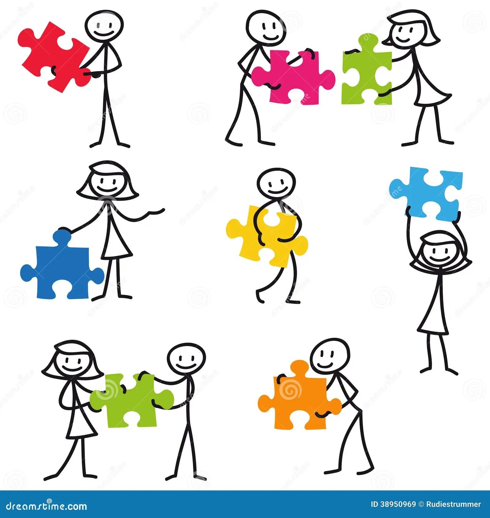 Stick Man Stick Figure Jigsaw Puzzle Stock Illustrations 71 Stick Man Stick Figure Jigsaw