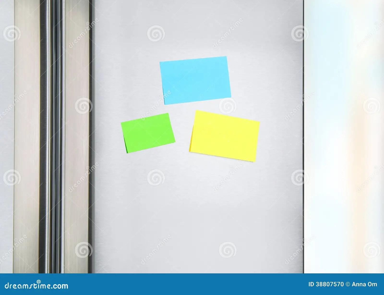 Sticky Notes On The Fridge Stock Photo Image 38807570