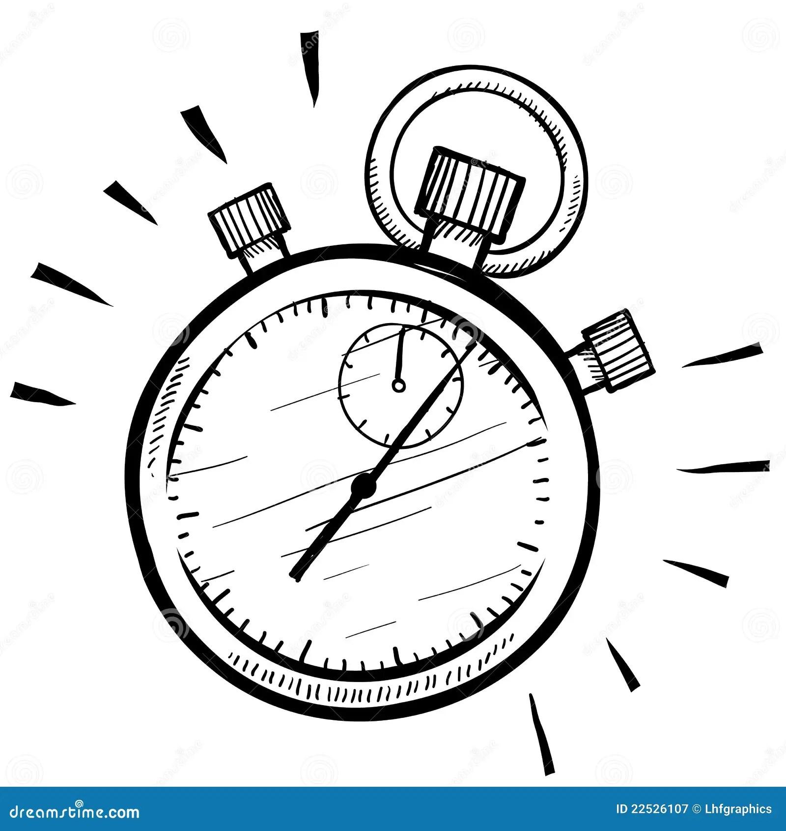 Stopwatch Sketch Stock Vector Illustration Of Jingle