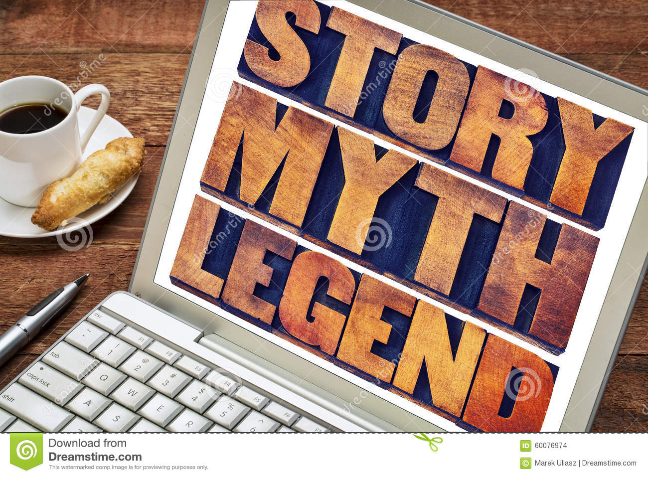 Story Myth Legend Word Abstract Stock Photo