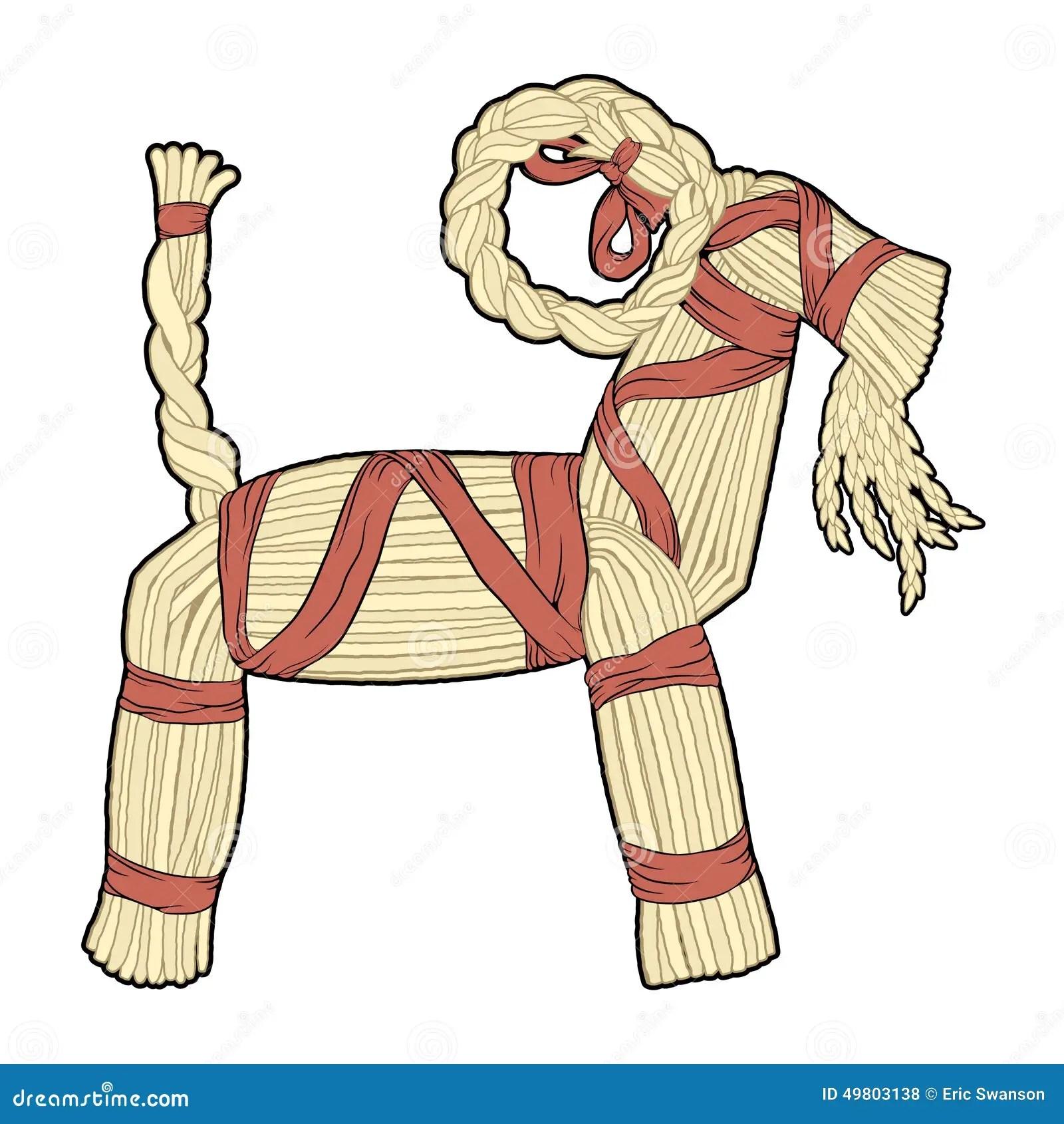 Straw Yule Goat Stock Vector Illustration Of Straw