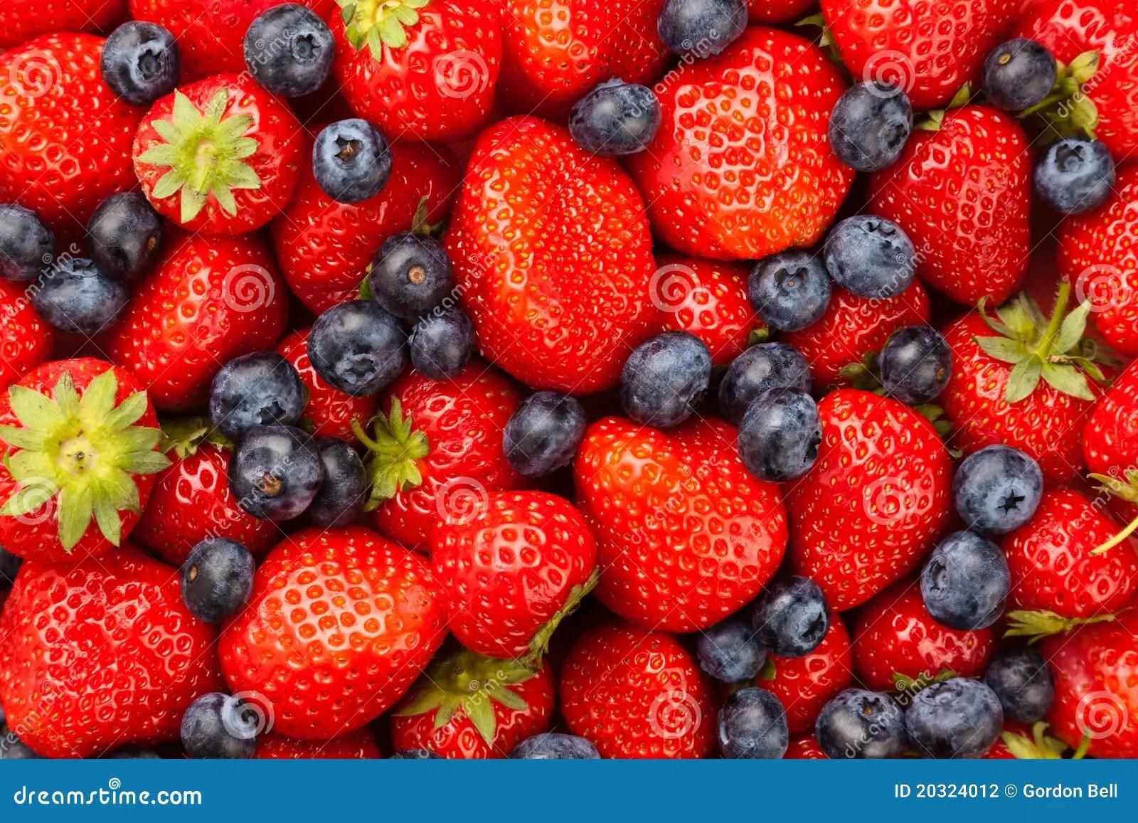 And Raspberries Stock Blueberries Bowl Blackberries