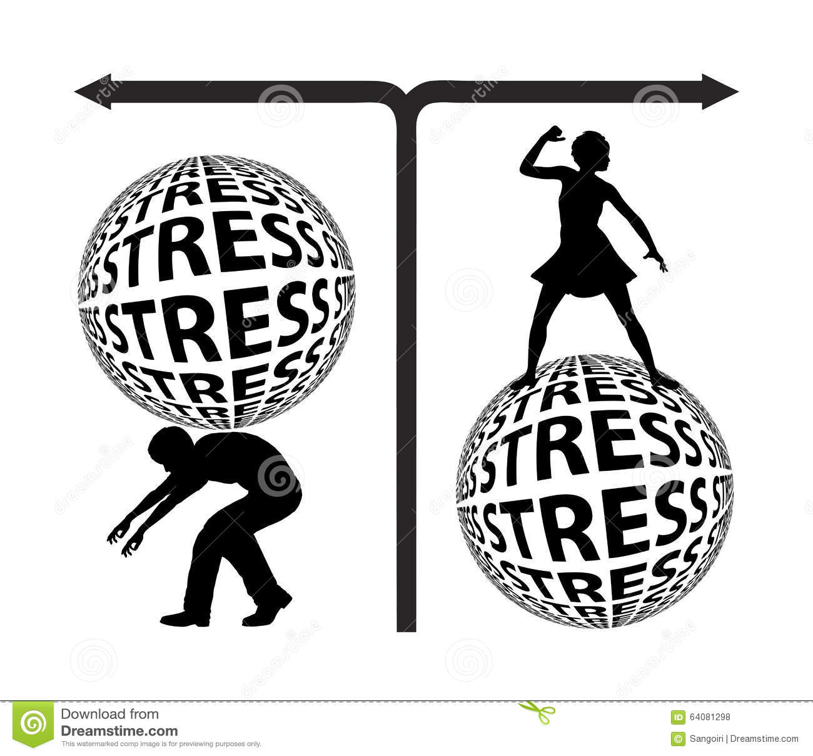 Stress By Gender Stock Illustration Illustration Of