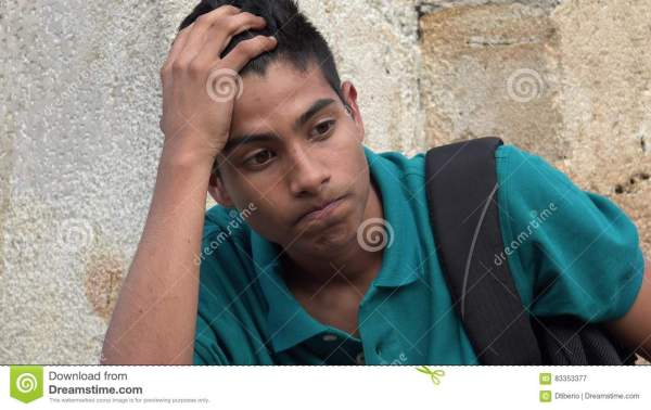 Stressed Teen And Arrows Of Question Marks Royalty-Free ...