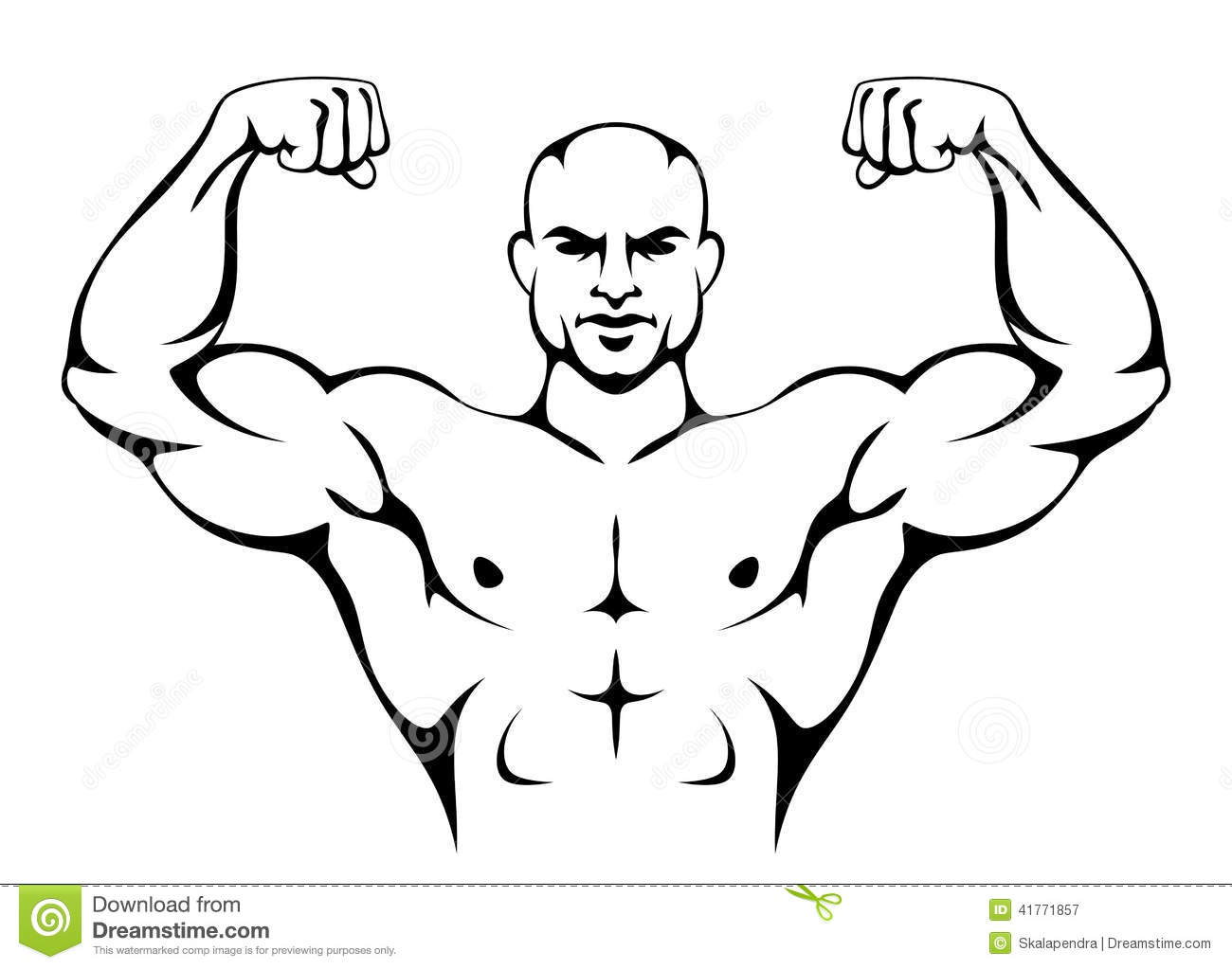 Strong Man Stock Vector Illustration Of Champion Figure