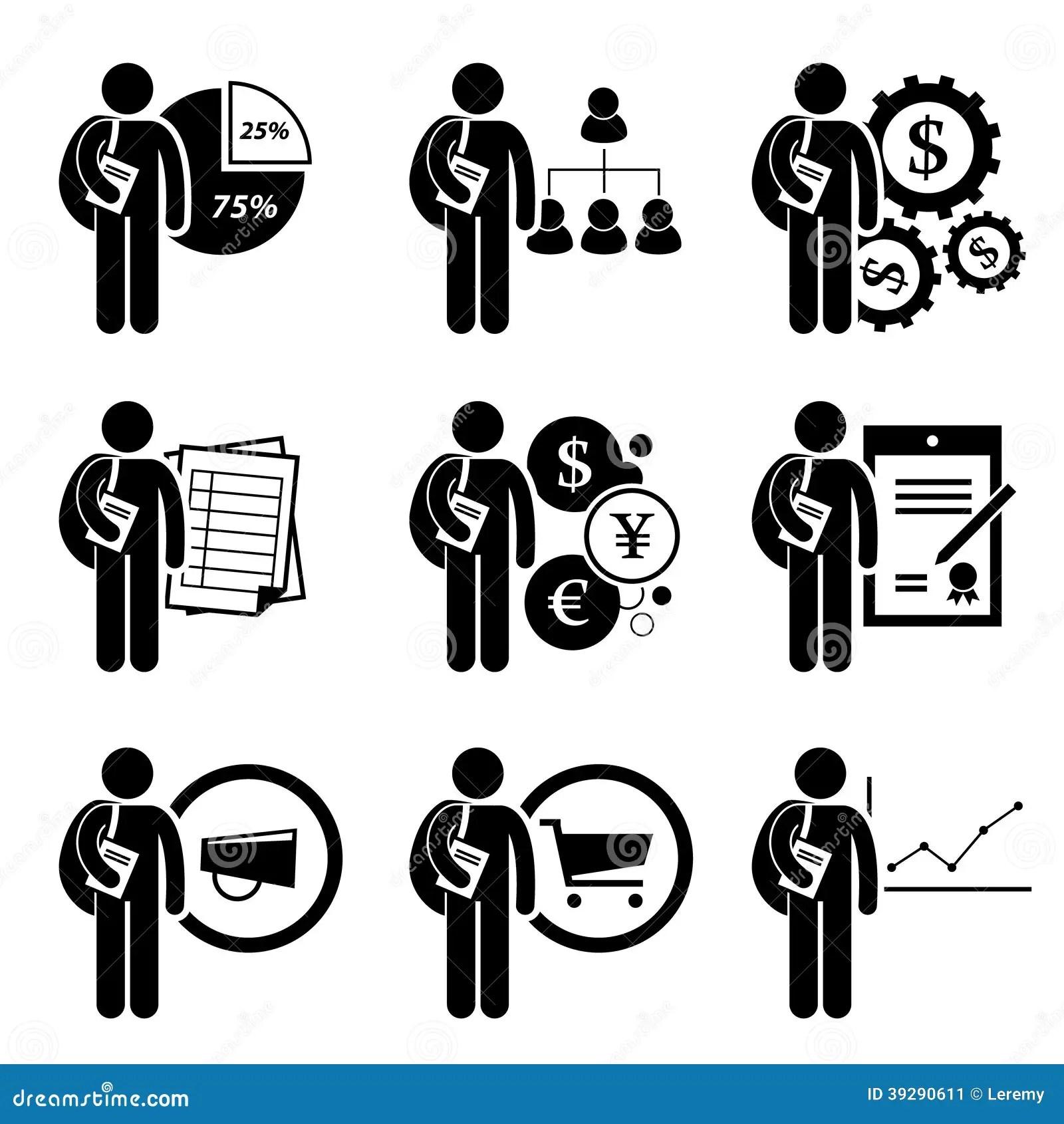 Student Degree In Bedrijfseconomie Vector Illustratie