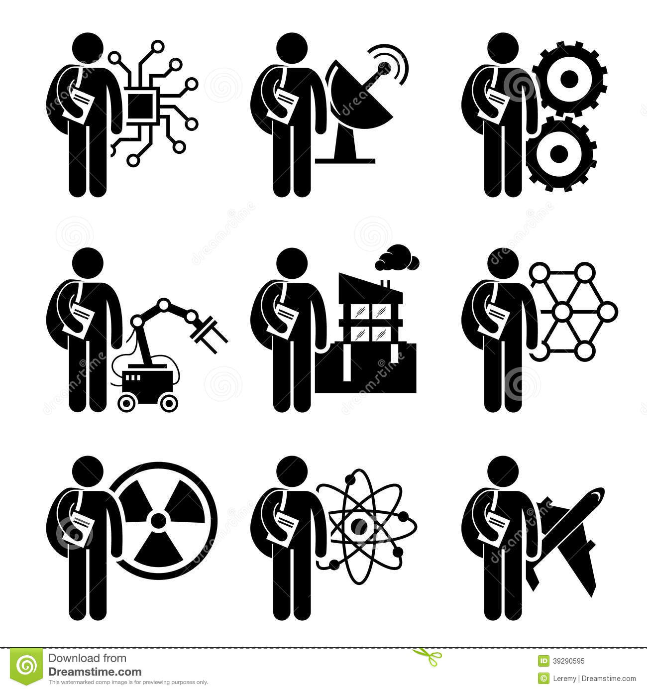 Student Degree In Engineering Stock Vector