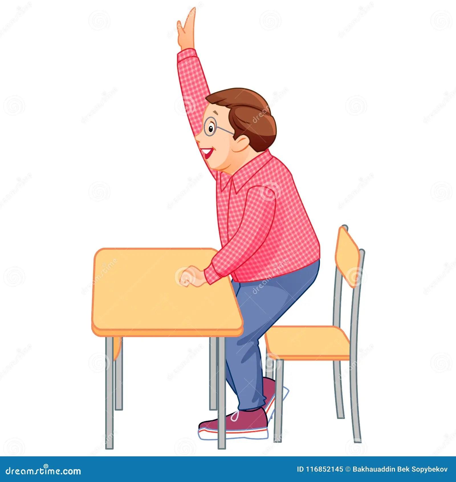 Student Raising Hand Clipart