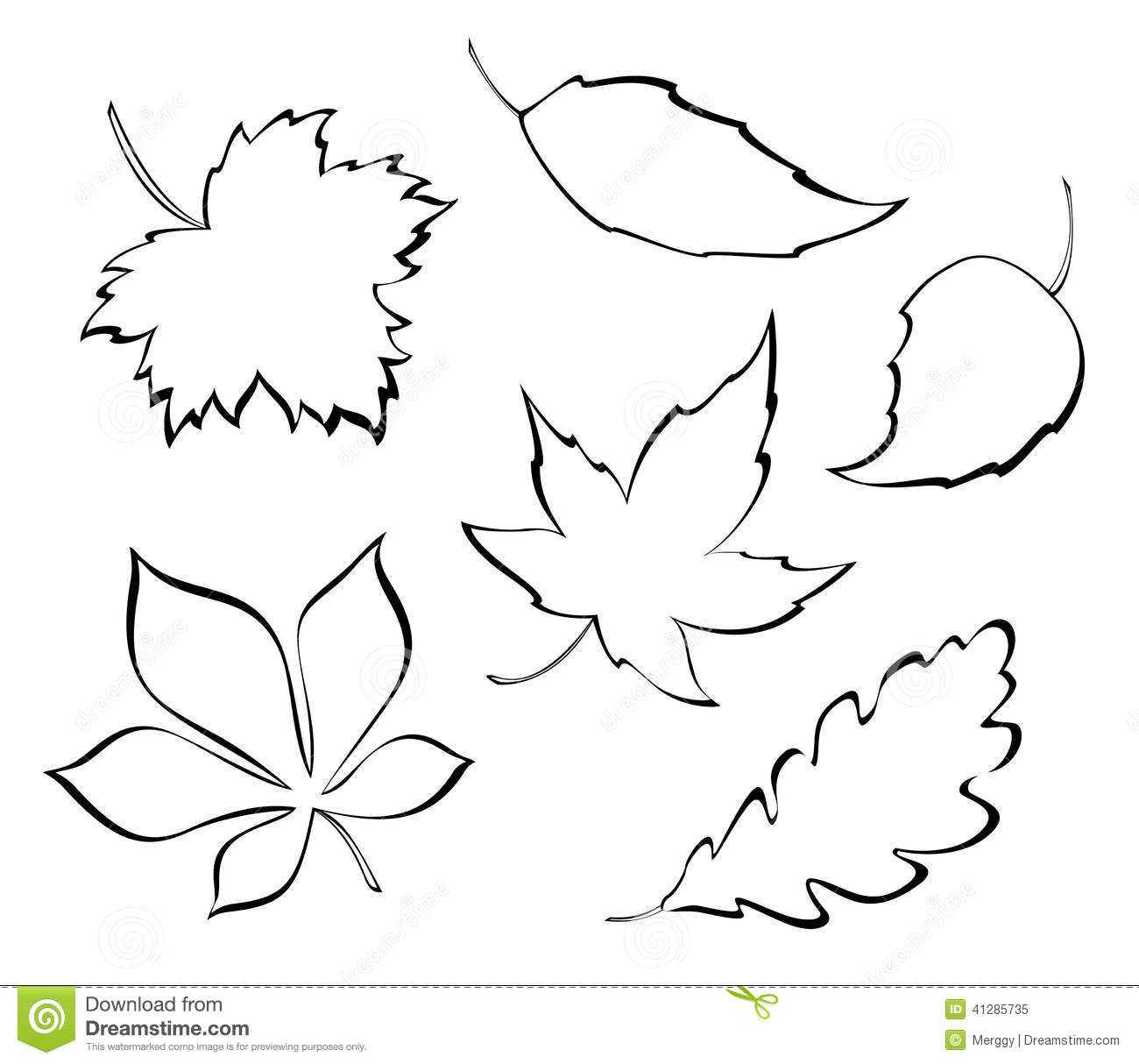 Stylized Leaves Stock Vector Illustration Of Decoration