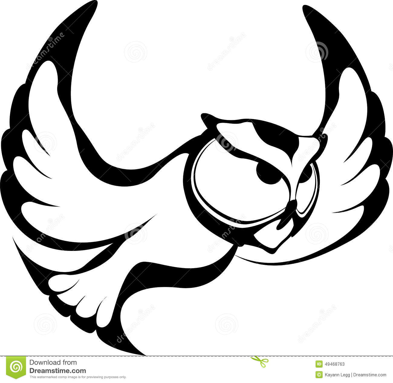 Stylized Owl Flying Stock Vector Illustration Of Learning
