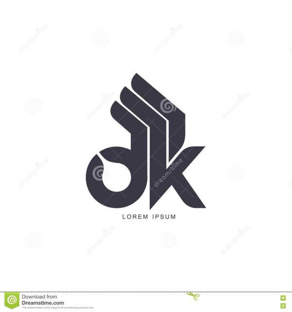 Stylized, Simplified Abstract Hand Showing OK Sign, Logo ...