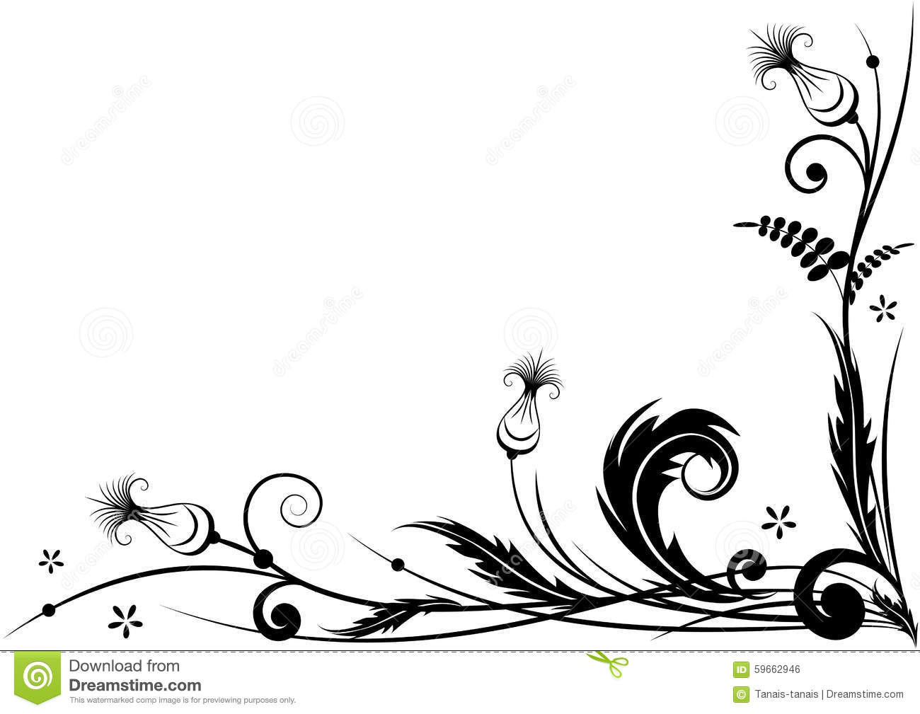 Stylized Thistle Stock Vector