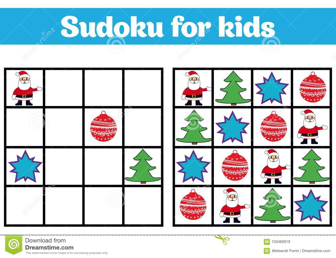 Sudoku Game For Children With Pictures Logic Game For
