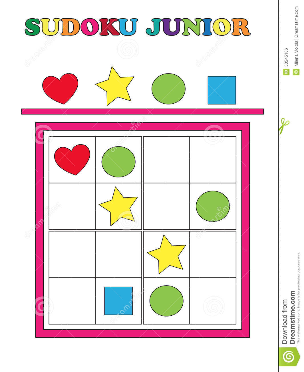 Sudoku Junior Stock Illustration Illustration Of