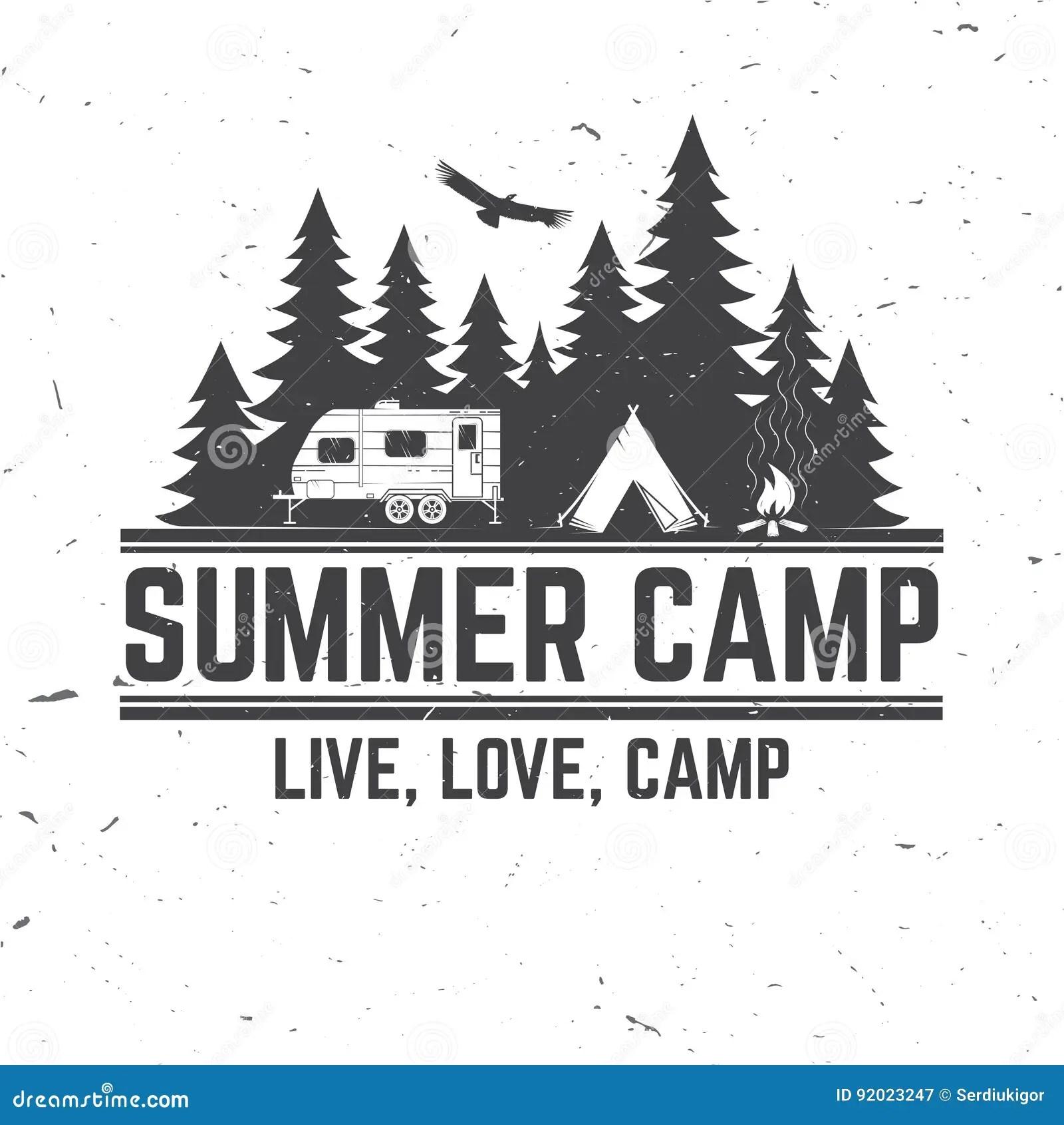 Summer Camp Vector Illustration Concept For Shirt Or