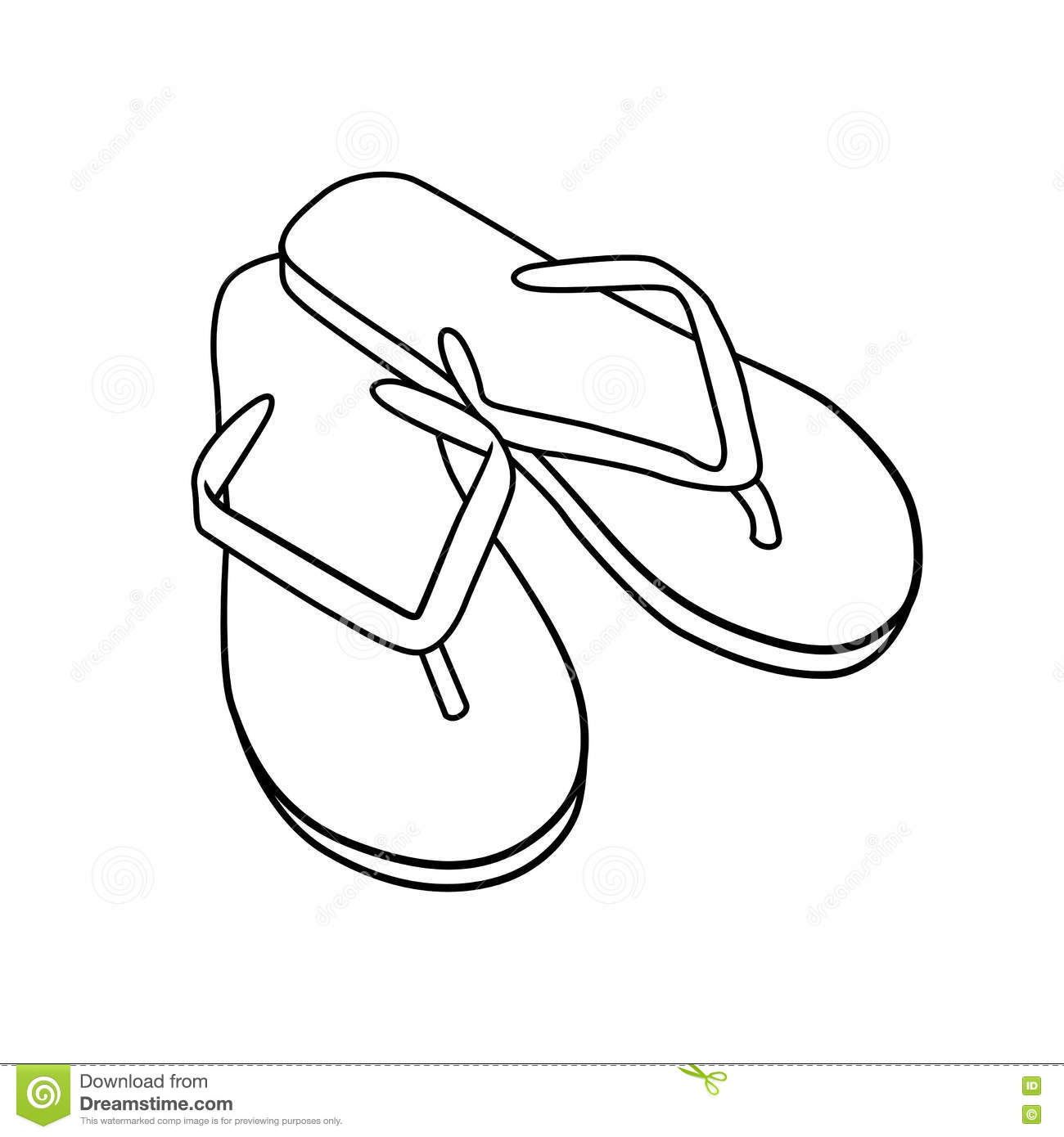 Flip Clip Art Black And White