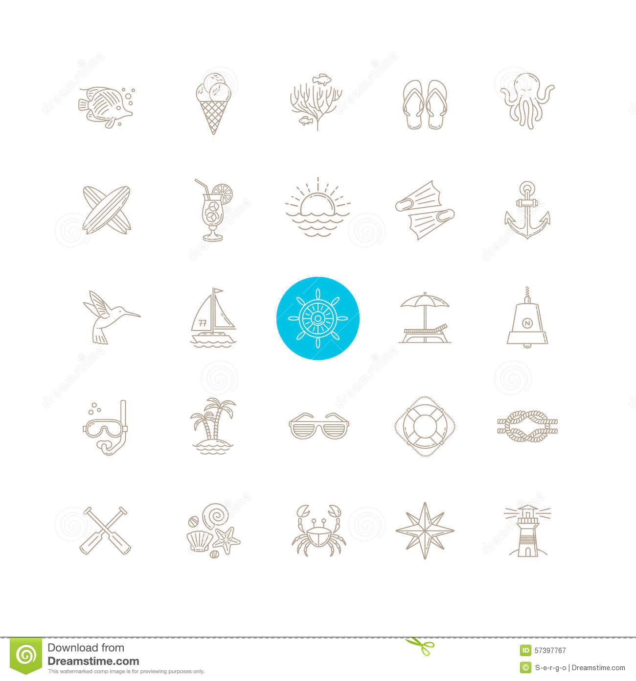 Summer Travel Icon Set Stock Vector Image Of Flip Icon