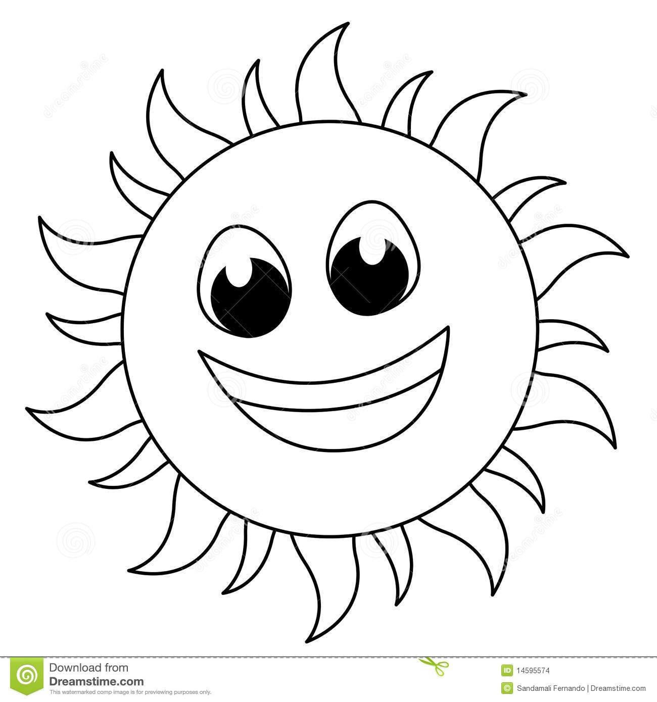 Sun Logo Stock Vector Illustration Of Drawing Black
