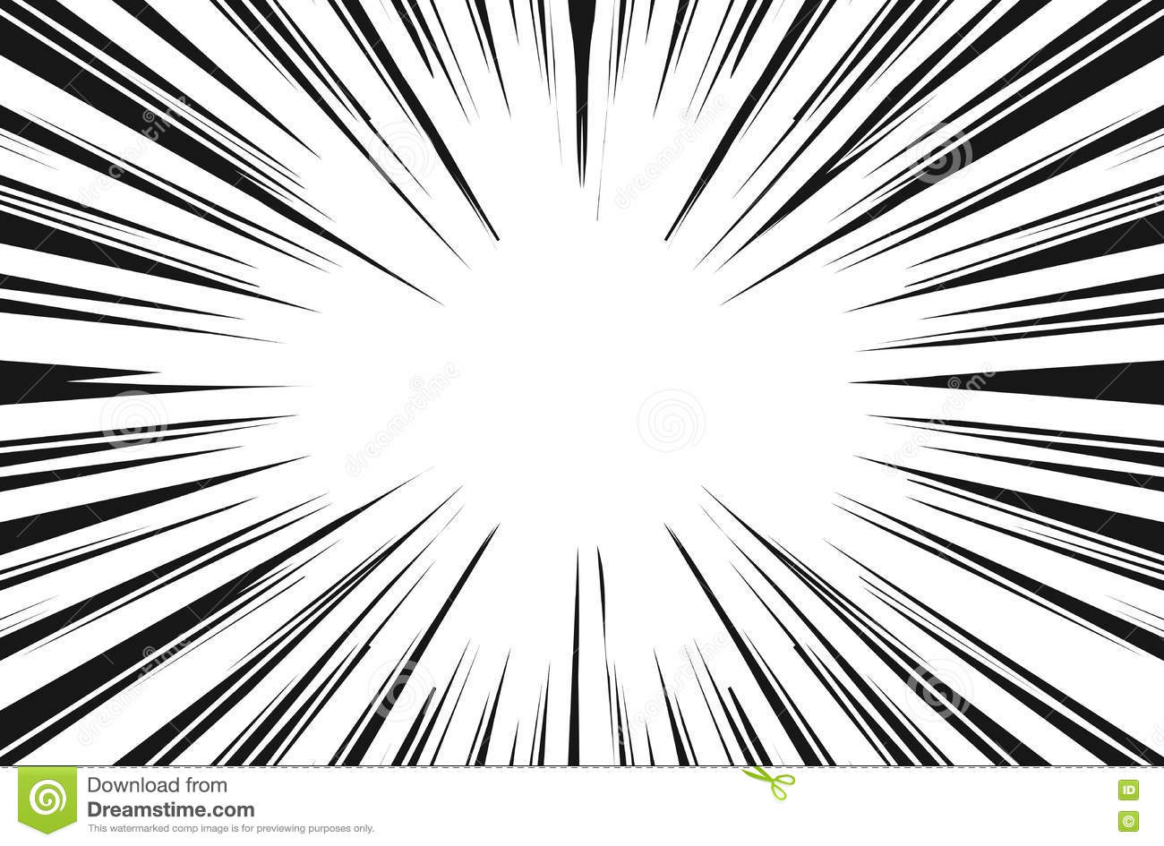 Sun Rays For Comic Books Radial Background Stock Vector